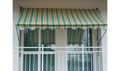 ANGERER FREIZEITMÖBEL Klemmmarkise grün/beige/braun, Ausfall: 150 cm, versch. Breiten kaufen