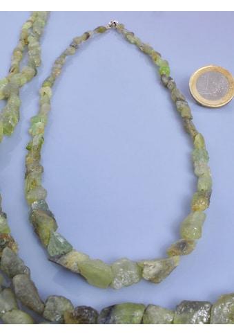 Adelia´s Kette ohne Anhänger »Smaragd Edelstein Stein Strang ohne Schließe 40 cm« kaufen