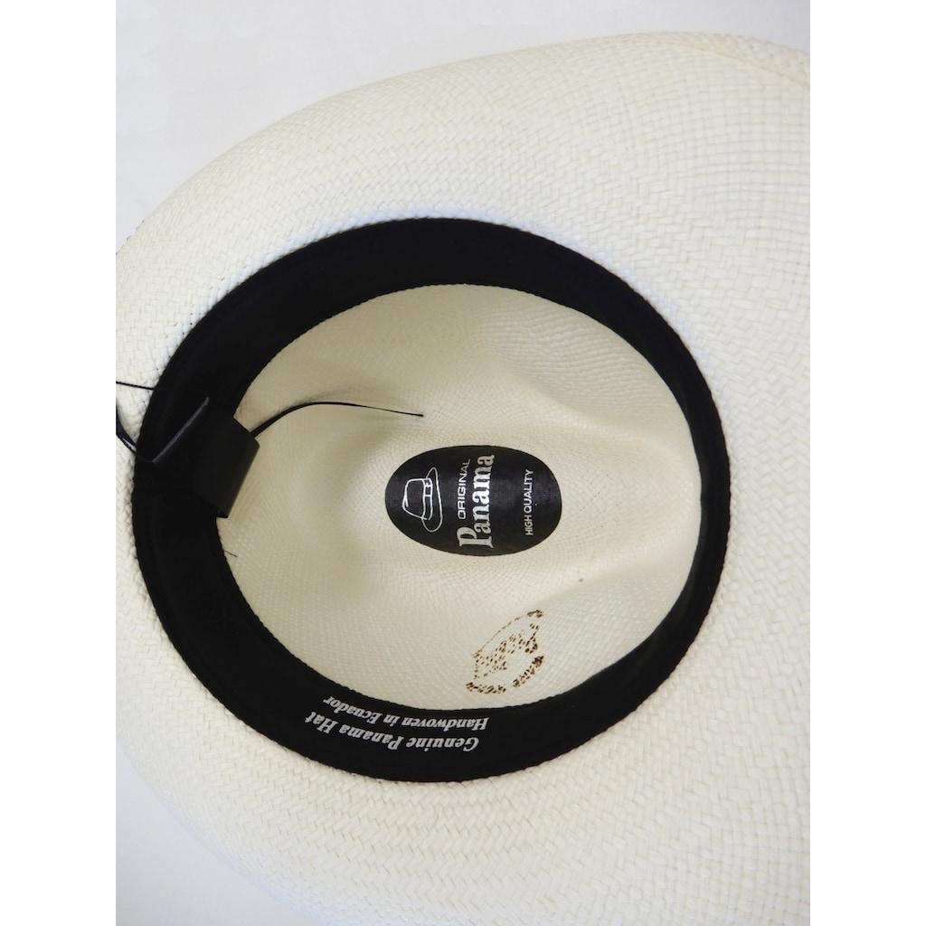 Chaplino Strohhut, mit modsichem Stoffband