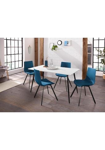 Essgruppe »Dino 1- Lucky«, mit Esstisch, Breite 140 cm und 4 Stühlen kaufen