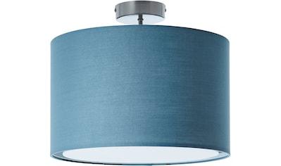 Lüttenhütt Deckenleuchte »Lüchte«, E27, Deckenlampe mit Stoffschirm blau / petrol, Ø... kaufen