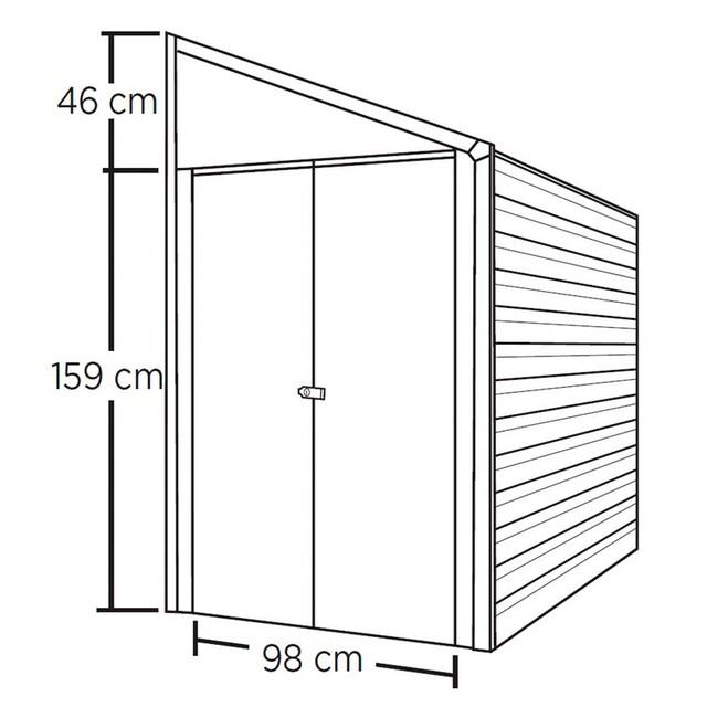 SPACEMAKER Stahlgerätehaus BxTxH: 203x124x208 cm