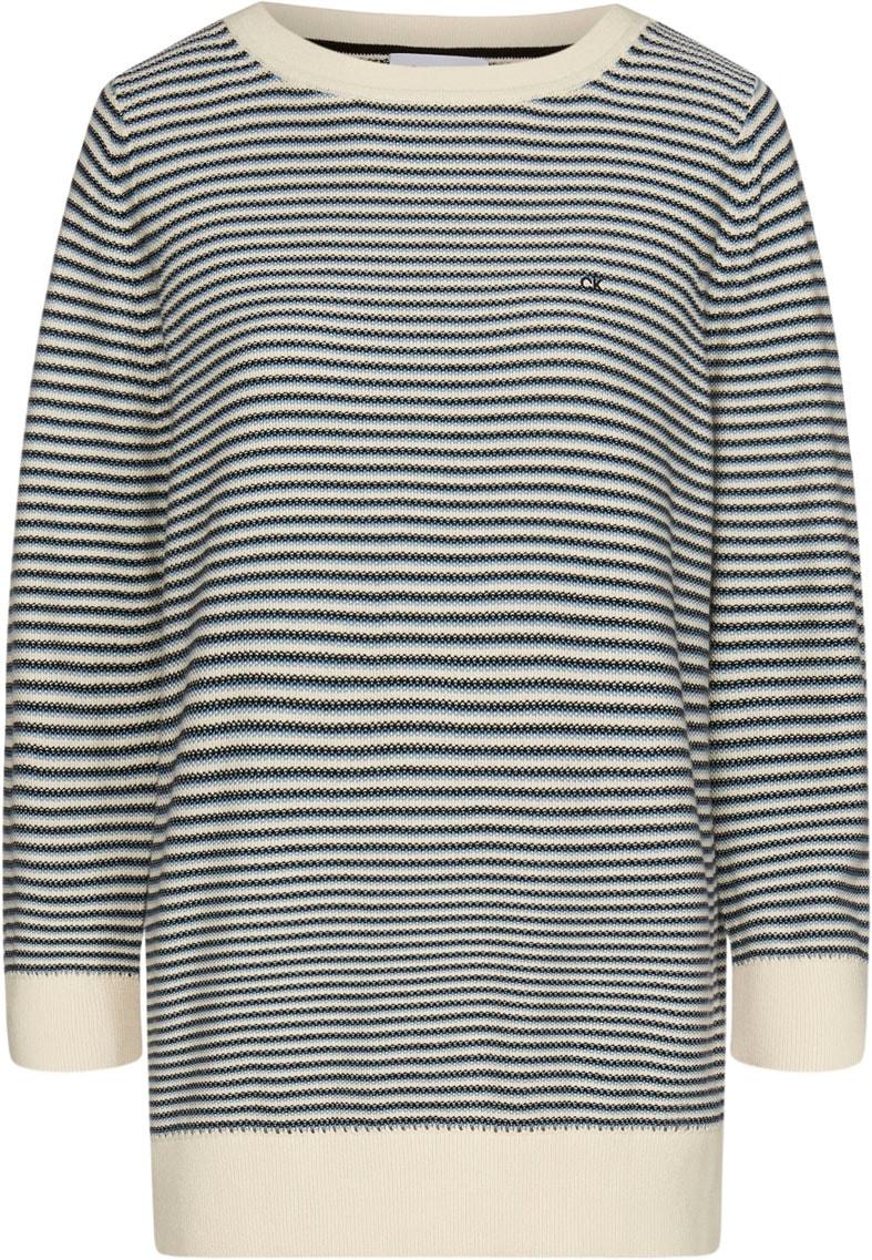 Calvin Klein 3/4 Arm-Pullover 3/4 PIQUE STRIPE SWEATER | Bekleidung > Pullover > 3/4 Arm-Pullover | Calvin Klein