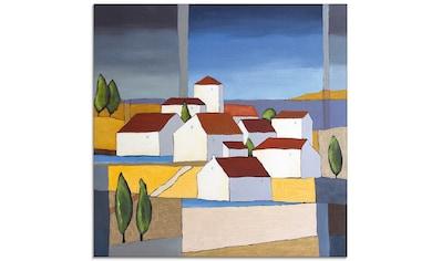 Artland Glasbild »Dorf in der Nähe vom Meer«, Gebäude, (1 St.) kaufen