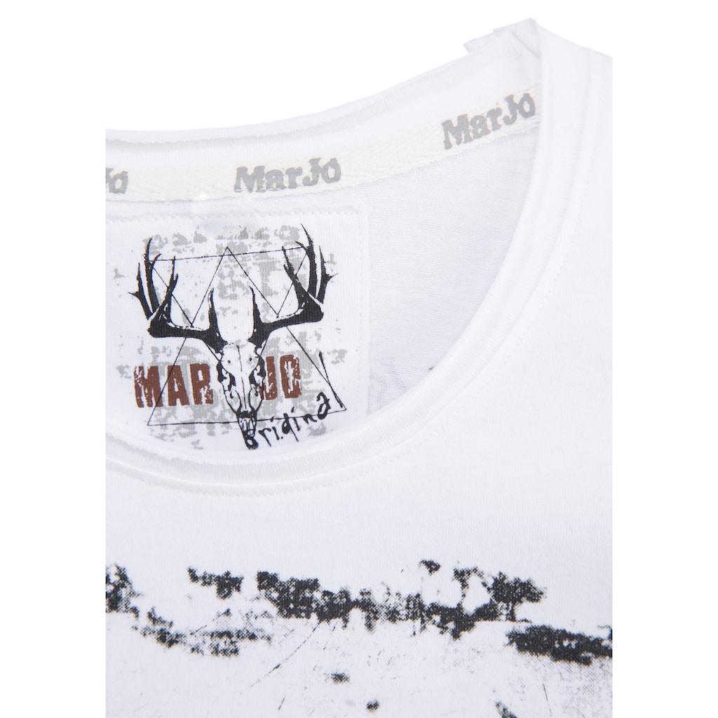 Marjo Trachtenshirt Herren mit Printmotiv vorne