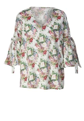 Sara Lindholm by Happy Size Bluse mit Blumen-Print kaufen