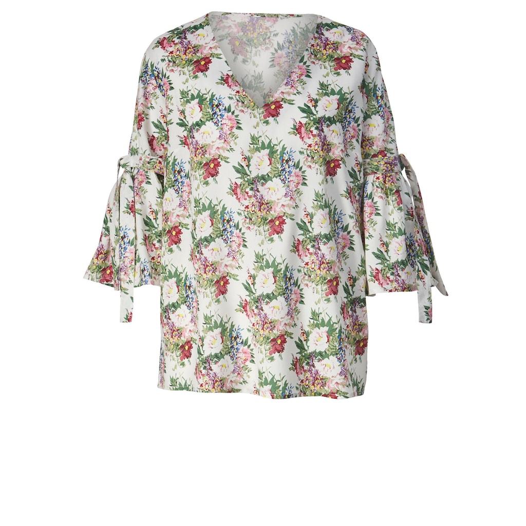 Sara Lindholm by Happy Size Bluse mit Blumen-Print