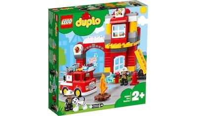 LEGO® Konstruktionsspielsteine »Feuerwehrwache (10903), LEGO® DUPLO™«, (76 St.), mit Licht- und Geräuscheffekten kaufen