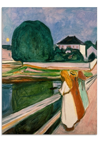 Artland Glasbild »Weisse Nacht (Asgaardstrand). 1903.«, Mann, (1 St.) kaufen