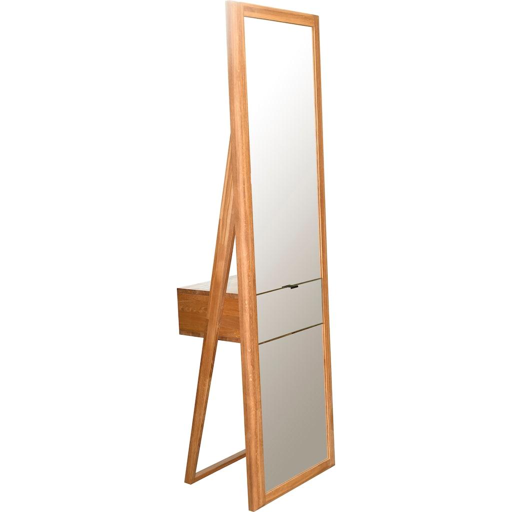 andas Ganzkörperspiegel »Scandi«, aus massivem Eichenholz, mit einer Schublade, Breite 56 cm
