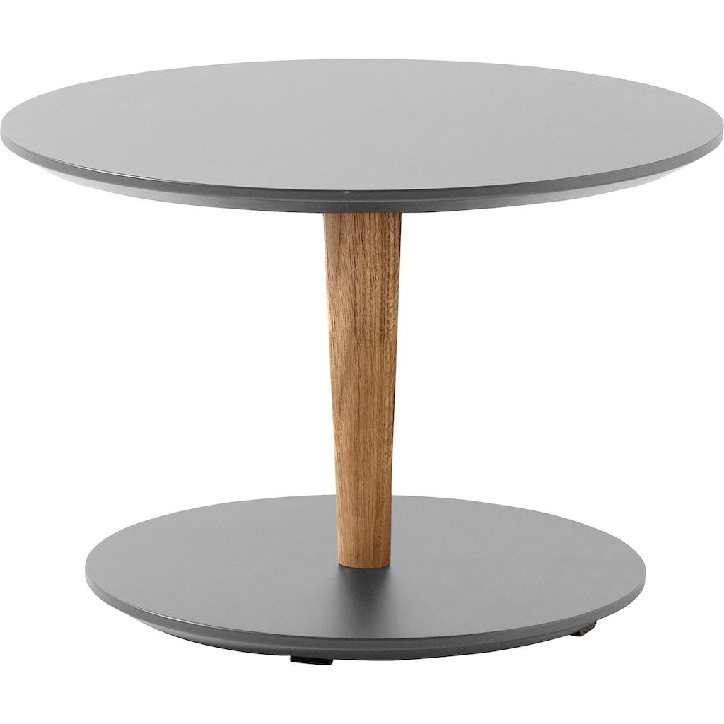 SCHÖNER WOHNEN-Kollektion Couchtisch »DIMARO«, in runder Form, Höhe 35 cm, Füße Echtholz Eiche Massiv