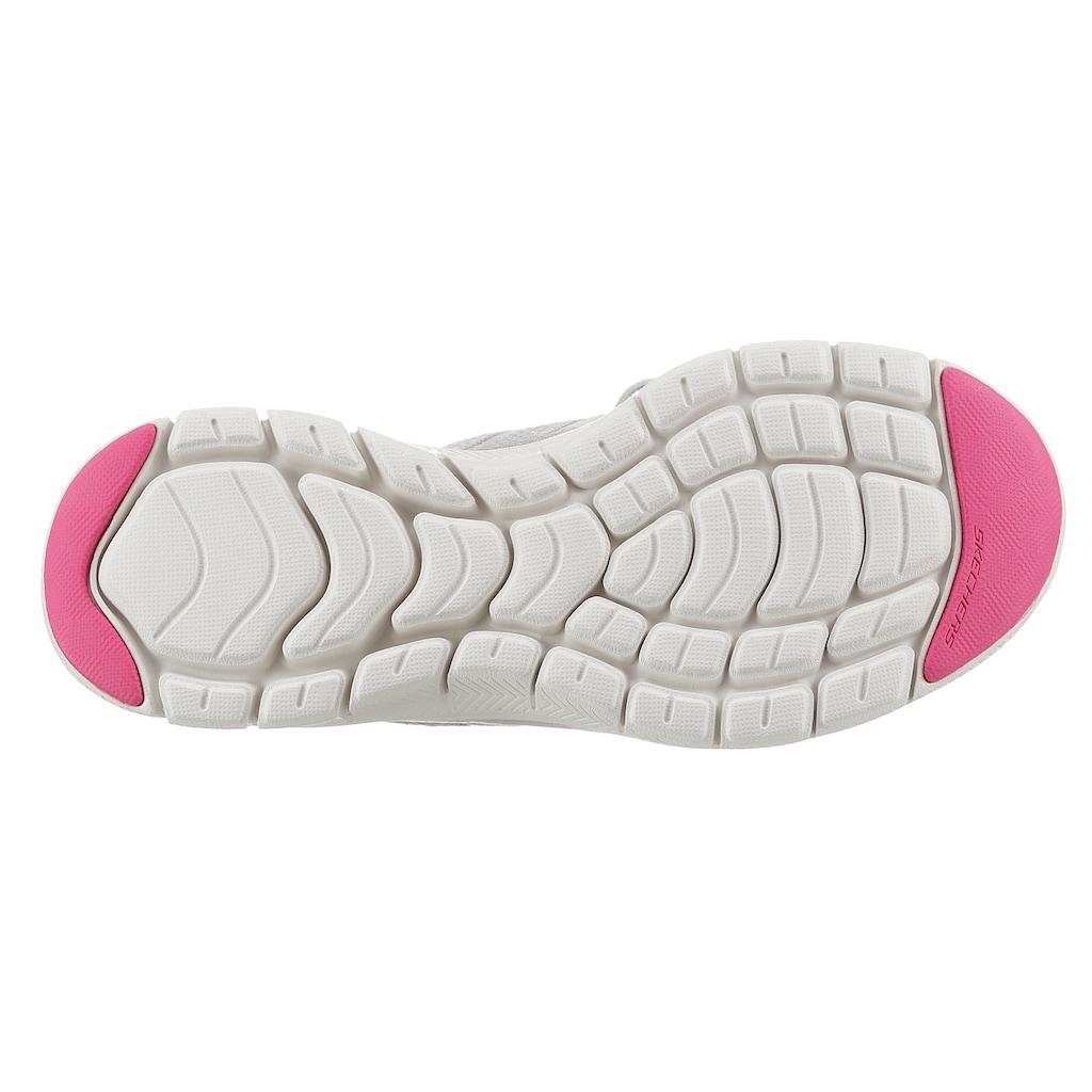 Skechers Slip-On Sneaker »FLEX APPEAL 4.0«, mit sockenähnlichen Schaft zum Schlupfen