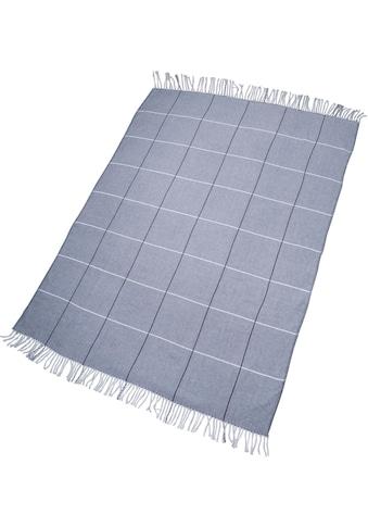 TOM TAILOR Plaid »Fine Squares«, mit Karos & Fransen kaufen