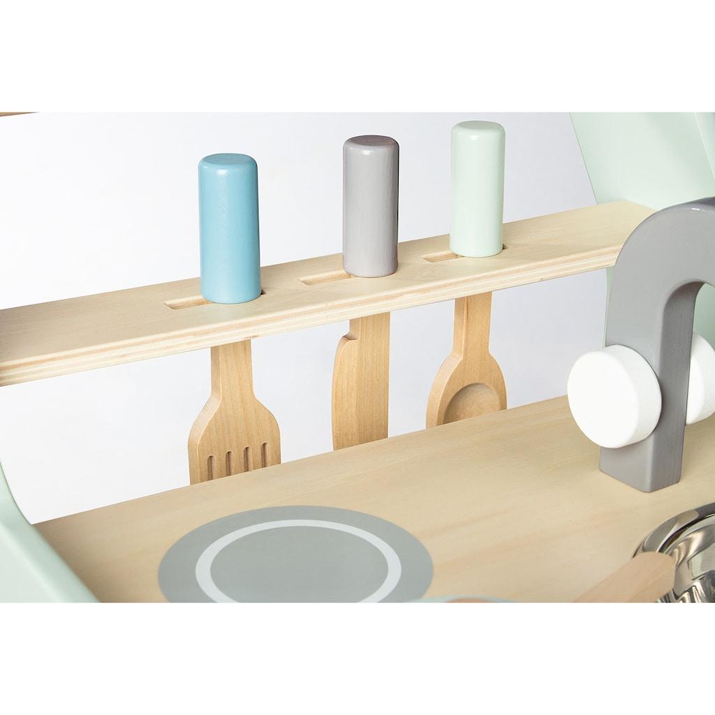 Pinolino® Spielküche »Kalle«, (6 St.), auch als Lauflernwagen nutzbar