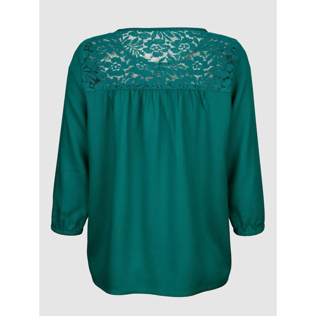 Dress In Klassische Bluse, mit Spitzendetail