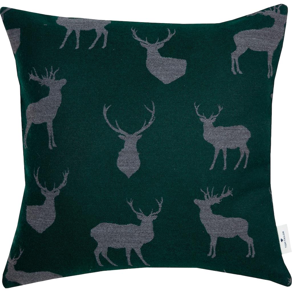 TOM TAILOR Dekokissen »Soft Deer«, Dekokissen mit Hirschköpfen