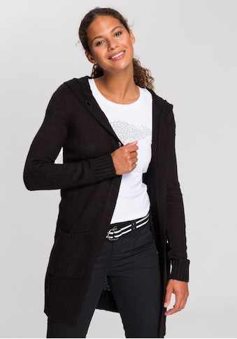 KangaROOS Kapuzenstrickjacke, mit aufgesetzten Taschen und breiten Rippbündchen kaufen
