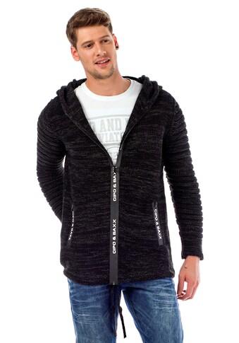 Cipo & Baxx Strickjacke, mit gemütlicher Kapuze kaufen