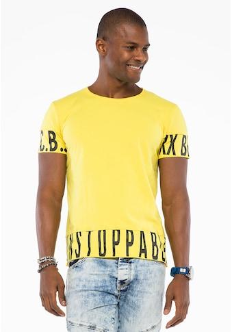 Cipo & Baxx T-Shirt, mit großen Marken-Buchstaben kaufen