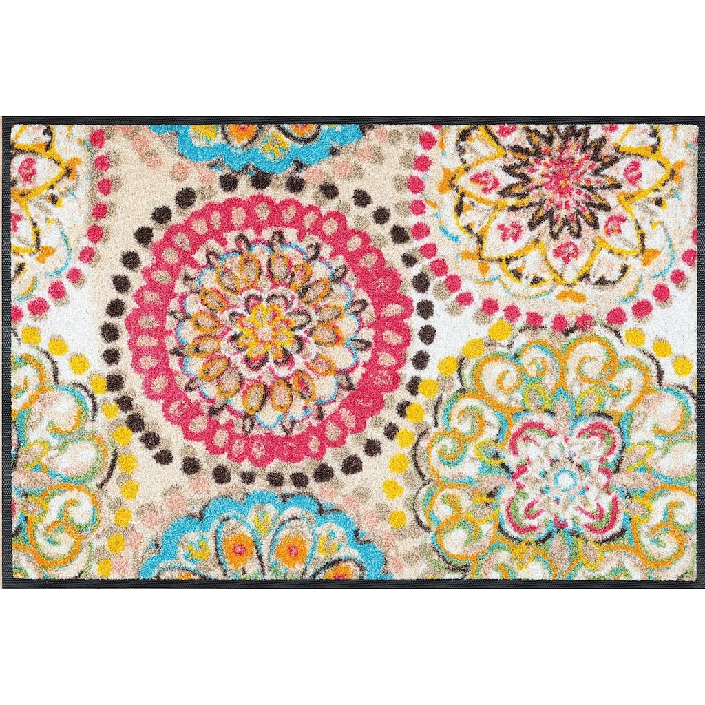 wash+dry by Kleen-Tex Fußmatte »Vintage Fresko«, rechteckig, 7 mm Höhe