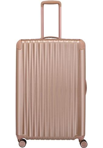 TITAN® Hartschalen-Trolley »BARBARA & TITAN®, Barbara Glint 77 cm, Rose Metallic«, 4 Rollen kaufen