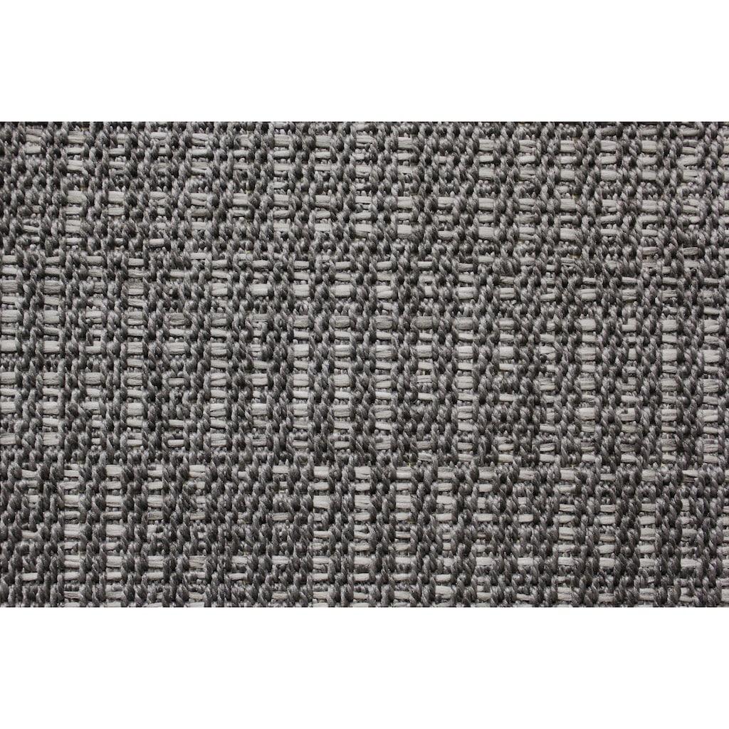 Dekowe Teppich »Naturino Struktur«, rechteckig, 8 mm Höhe, Flachgewebe, Sisal-Optik, mit Bordüre, In- und Outdoor geeignet, Wohnzimmer
