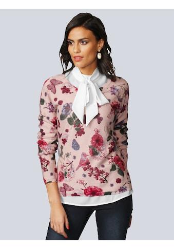 Alba Moda Pullover mit fantasievollem Blumenprint kaufen