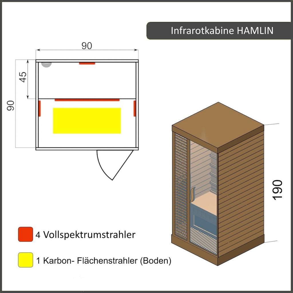 Dewello Infrarotkabine »Hamlin Vollspektrum«, für 1 Person