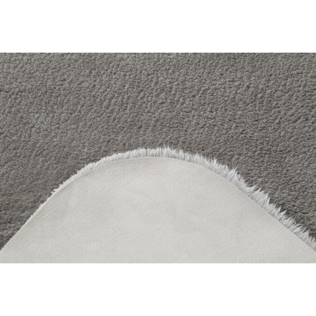Andiamo Fellteppich »Lamm Fellimitat«, rund, 20 mm Höhe, Kunstfell, besonders weich durch Microfaser, Wohnzimmer