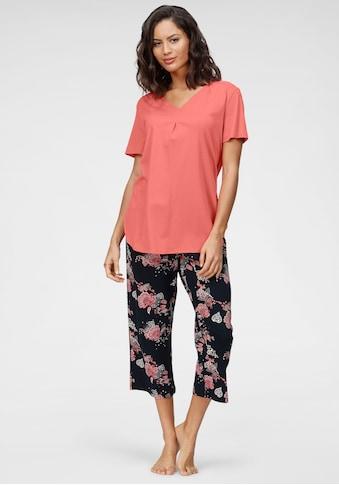 Schiesser Capri-Pyjama, mit geblümter Caprihose kaufen