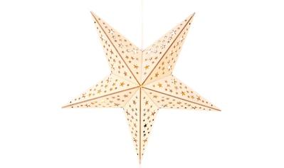 BONETTI LED Stern, Warmweiß, aus Holz, mit 10-teiliger Lichterkette kaufen