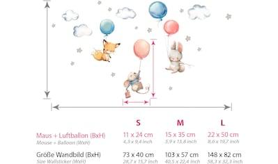 little DECO Wandtattoo »Little Deco Wandtattoo Fuchs Maus und Hase mit Luftballon« kaufen