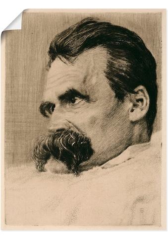 Artland Wandbild »Friedrich Nietzsche. 1899«, Menschen, (1 St.), in vielen Größen &... kaufen