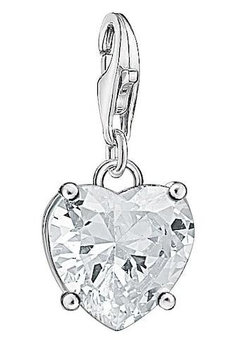 THOMAS SABO Charm - Einhänger »Herz mit weißem Stein, 1567 - 051 - 14« kaufen