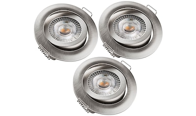 HEITRONIC LED Einbaustrahler »DL7202«, LED-Modul, 3 St., Warmweiß, Dimmbar per... kaufen
