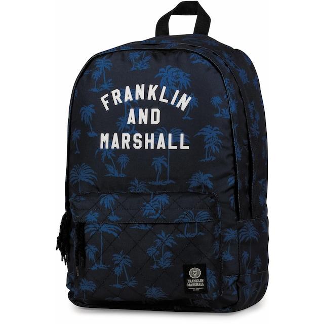 Franklin & Marshall Freizeitrucksack »Boys, Palmen, 24 Liter, blau«