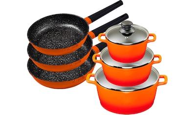 KING Topf - Set »Shine Orange« (Set, 9 - tlg., 3 Pfannen, 3 Töpfe, 3 Deckel) kaufen