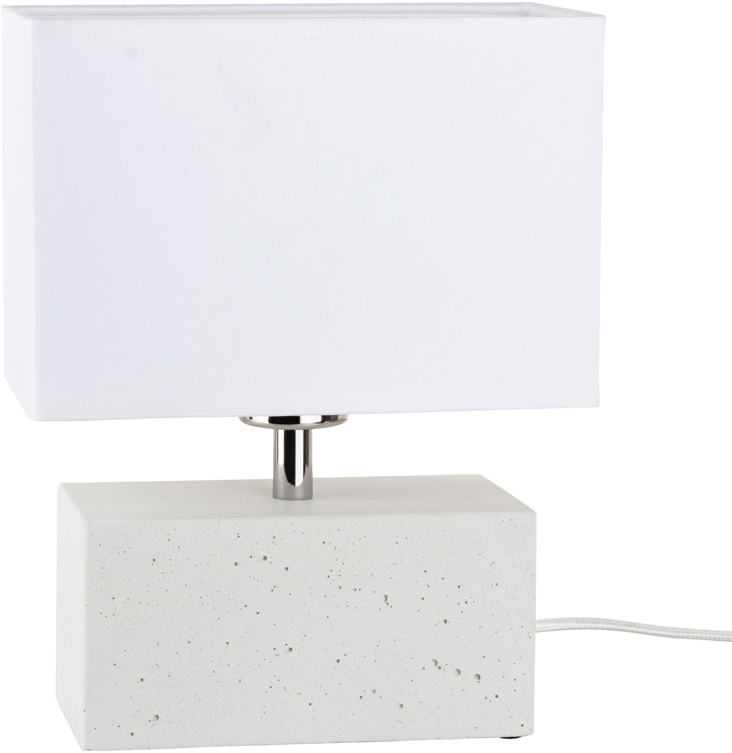 SPOT Light Tischleuchte STRONG DOUBLE, E27, 1 St., Wertige Materialien: echtes Beton und Leuchtenschirm aus Stoff, Naturprodukt - nachhaltig, Trendiges Design, Made in EU
