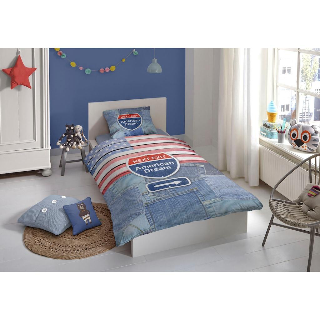 good morning Jugendbettwäsche »Denim«, mit Jeans-Motiv