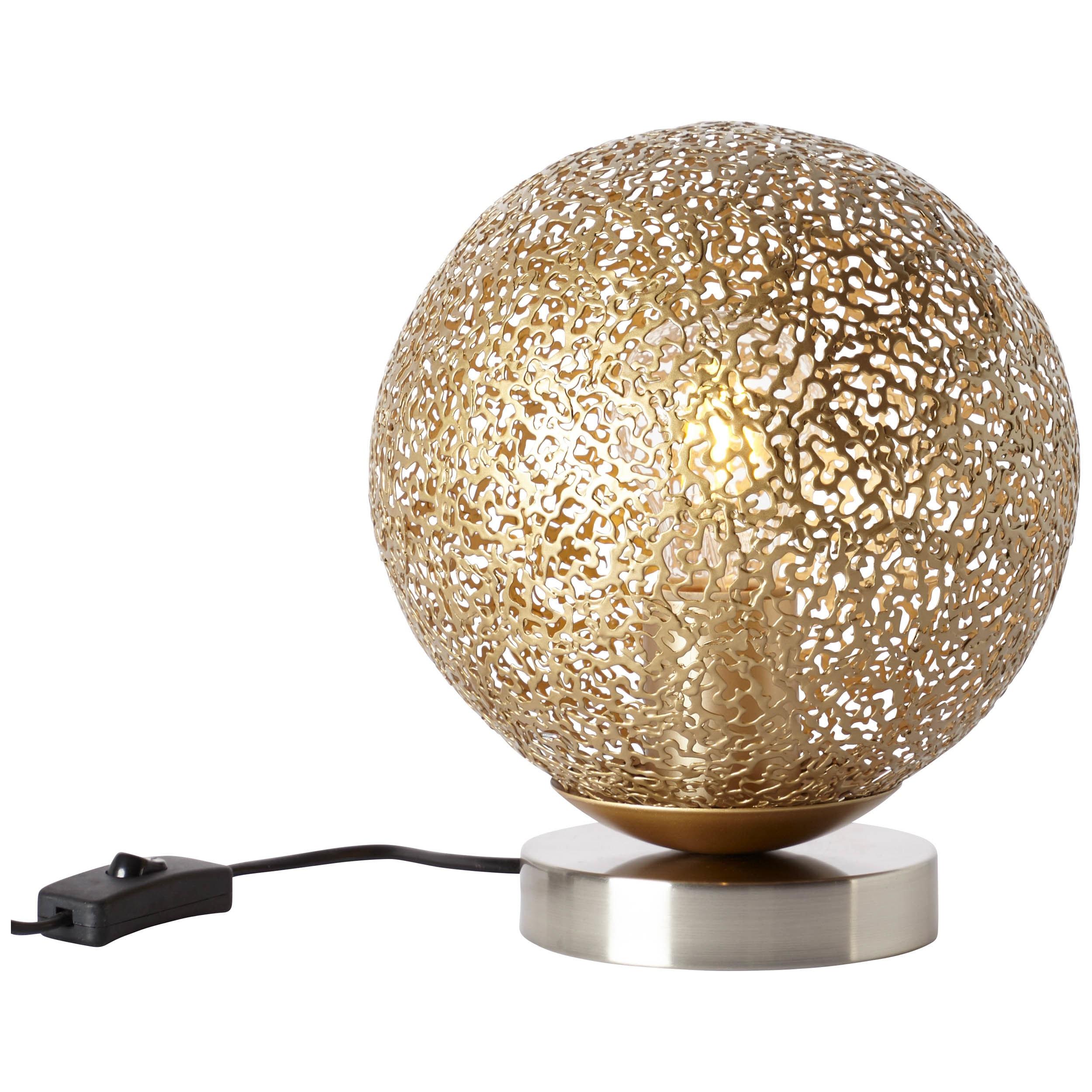 Brilliant Leuchten Chane Tischleuchte nickel/gold