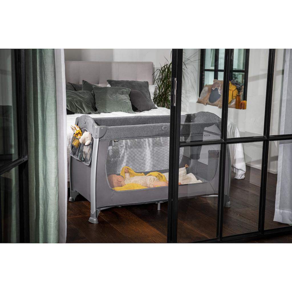 Hauck Baby-Reisebett »Play N Relax Center, Melange Charcoal«, inkl. Transporttasche