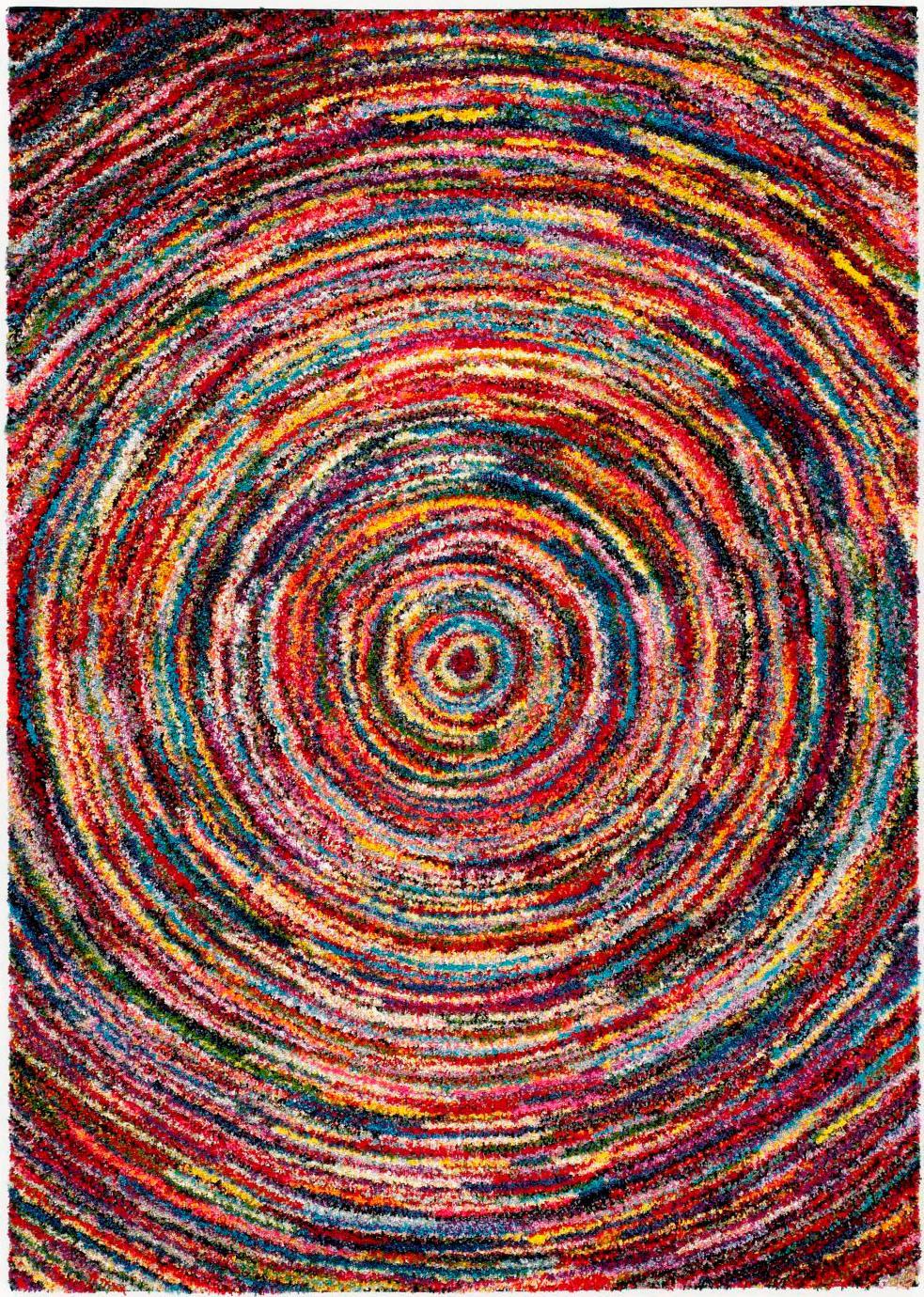 Hochflor-Teppich Sixteen Round OCI DIE TEPPICHMARKE rechteckig Höhe 25 mm maschinell gewebt