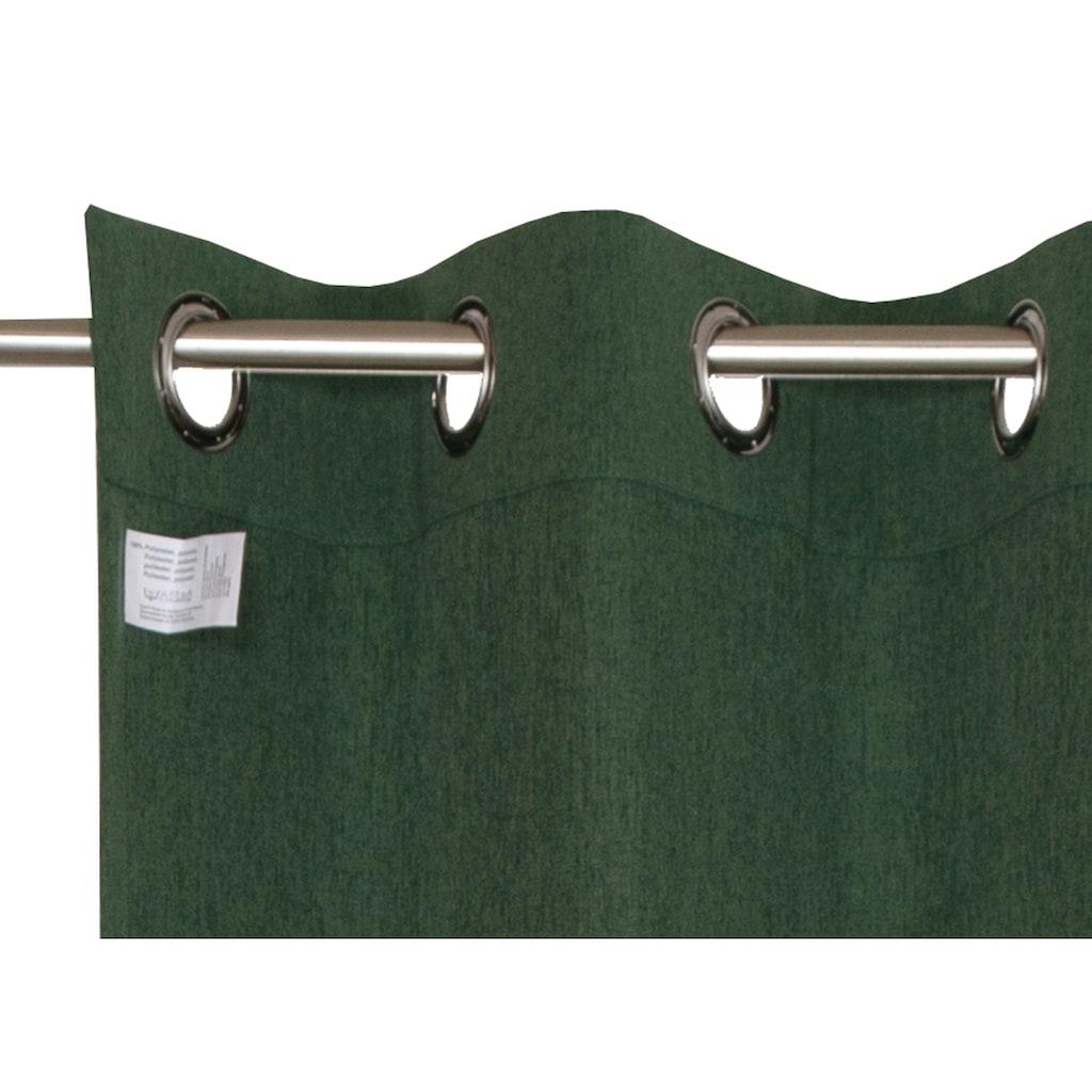 Esprit Vorhang »Harp«, Webgardine blickdicht mit Ösen, fertig konfektioniert