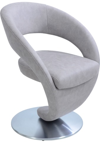 K+W Komfort & Wohnen Drehstuhl »Wave«, Design-Drehstuhl, Drehteller in Edelstahloptik kaufen