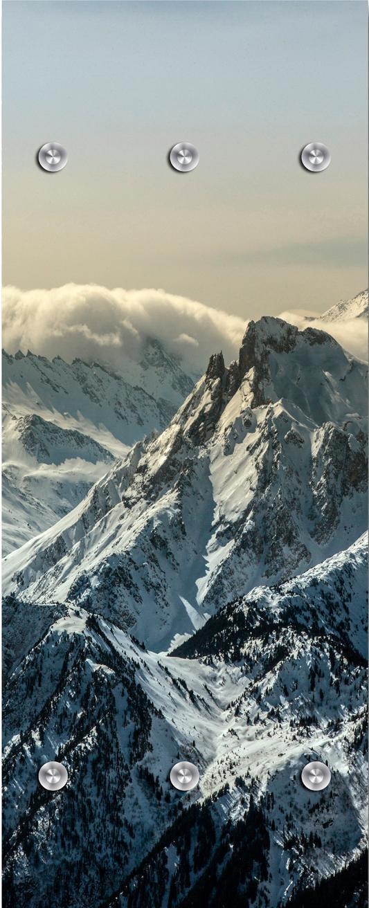 queence Garderobenpaneel Berge, mit 6 Haken, 50 x 120 cm günstig online kaufen