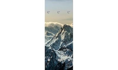 queence Garderobenpaneel »Berge«, mit 6 Haken, 50 x 120 cm kaufen