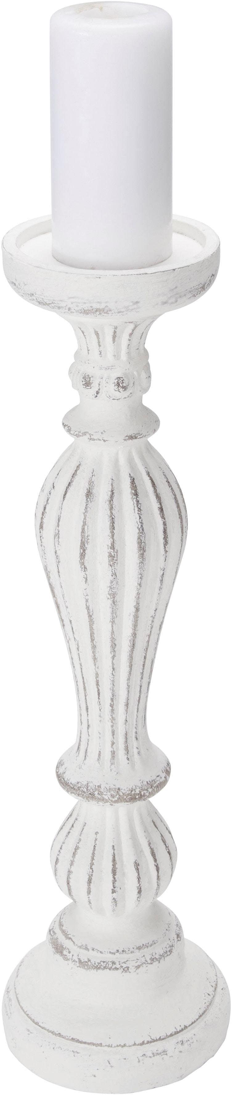 Home affaire Kerzenhalter, im Antik-Look weiß Kerzenhalter Kerzen Laternen Wohnaccessoires