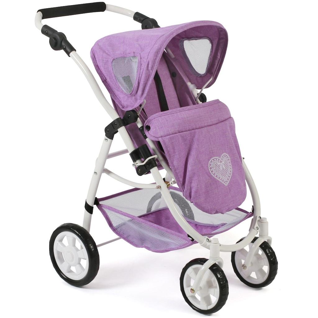 CHIC2000 Kombi-Puppenwagen »Emotion All In 3in1, Flieder«, inkl. Babywanne, Babyschale und Sportwagenaufsatz