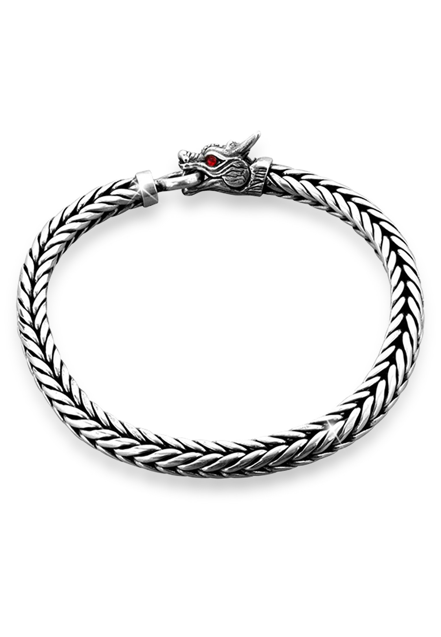 Kuzzoi Armband Herrn Drache Zirkonia Ringverschluss 925er Silber | Schmuck > Armbänder > Silberarmbänder | Kuzzoi
