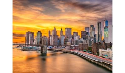 Papermoon Fototapete »Manhattan Skyline Sunset« kaufen